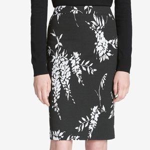 Calvin Klein Size 14 Jacquard Printed Pencil Skirt
